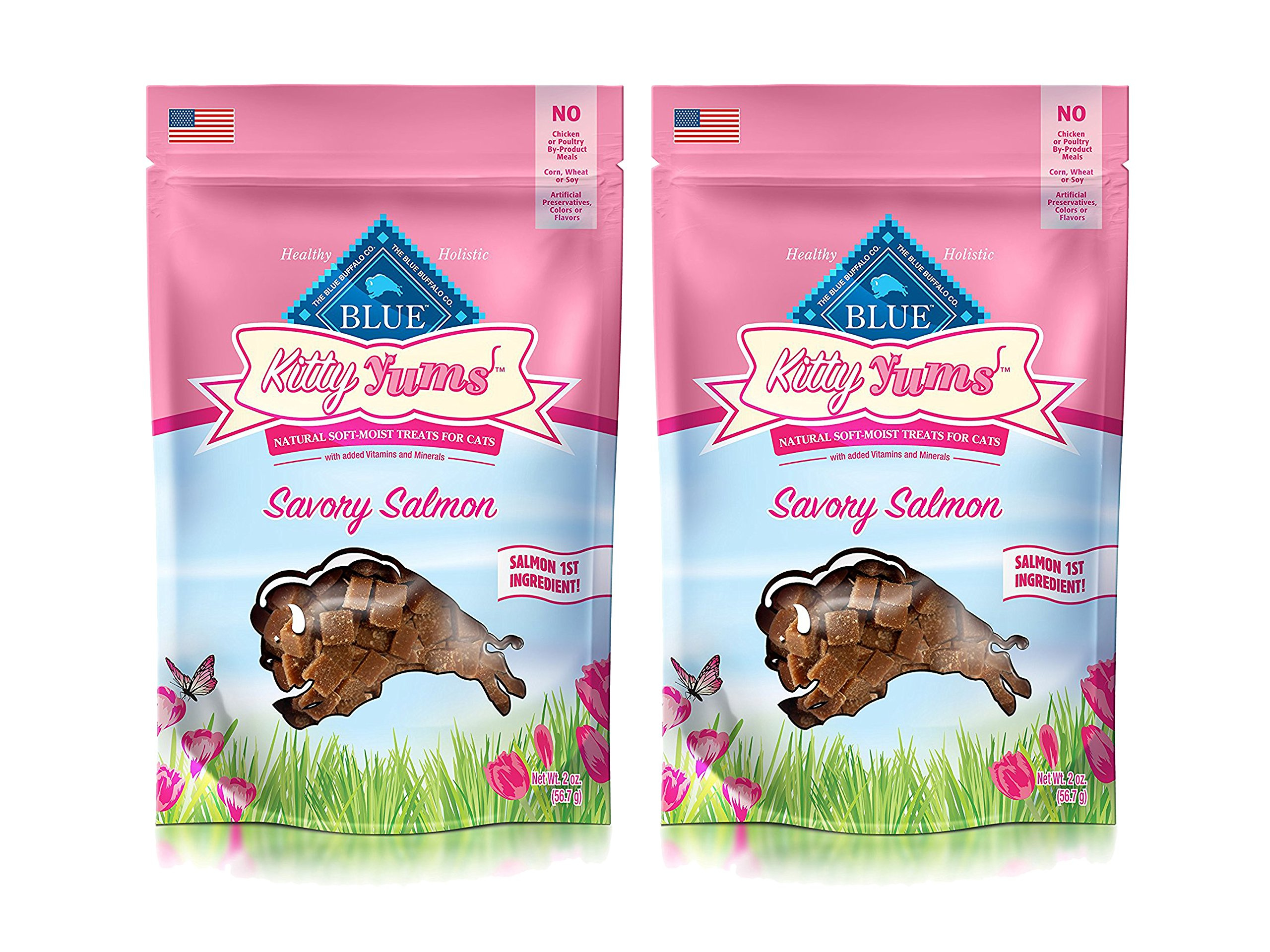 Animal Supply Co. Set of 2 Blue Kitty Yums Savory Salmon Recipe bundled by Maven Gifts by Animal Supply Co. (Image #1)