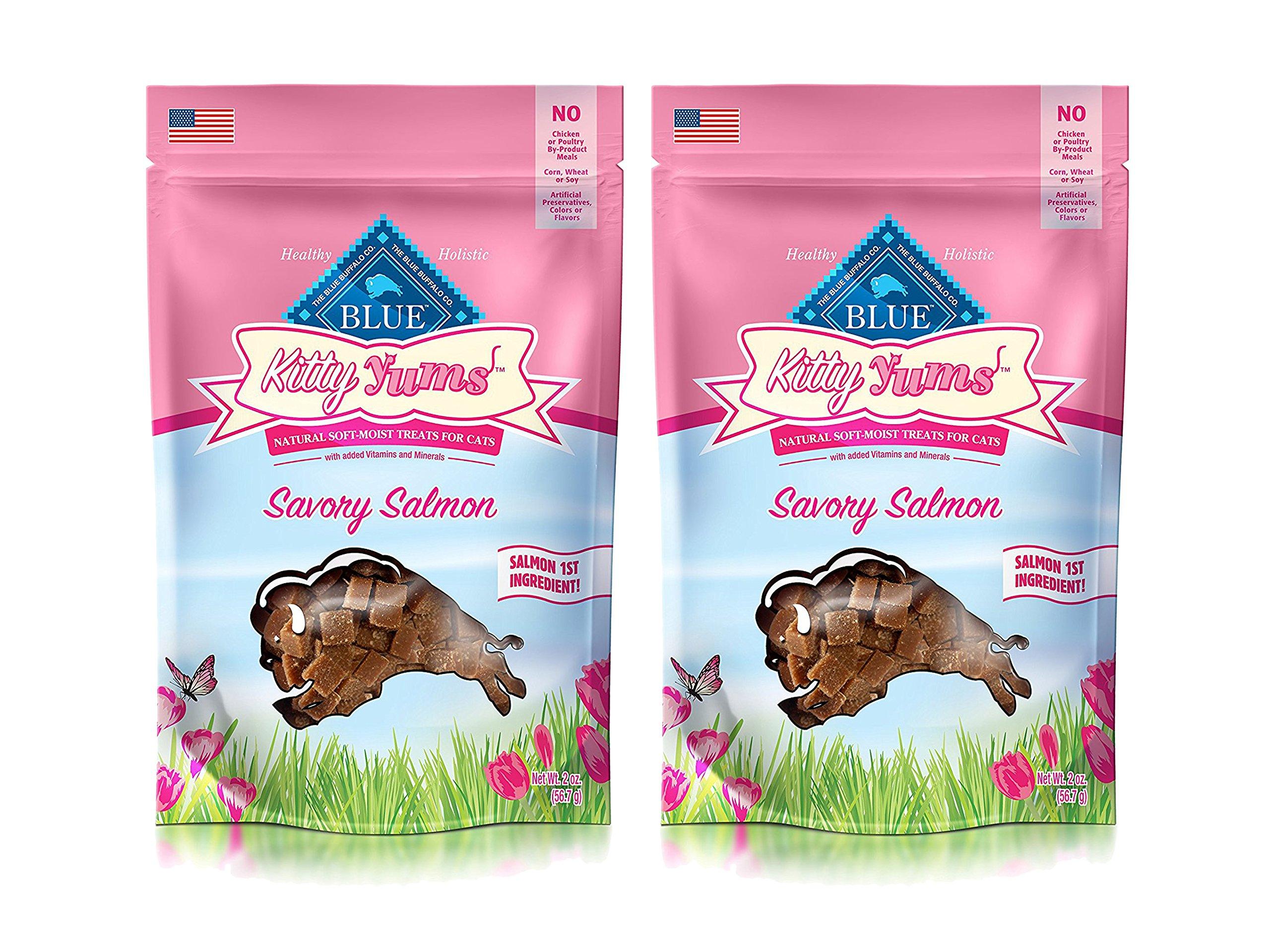 Animal Supply Co. Set of 2 Blue Kitty Yums Savory Salmon Recipe bundled by Maven Gifts