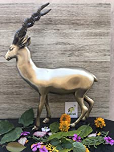 Aakrati Metal Reindeer Statue for Home Decoration - Unque Sculpture and Decor