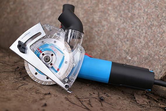 HERZO Guía de corte con racor de aspiración para cortar 115/125 mm ...
