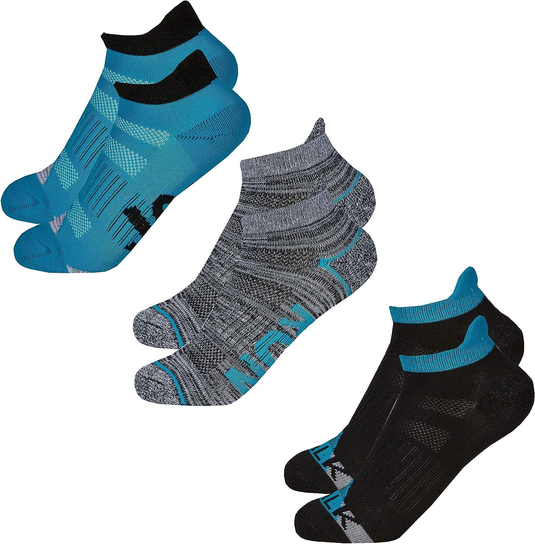 6 Pairs Girls Pretty Trainer sneaker shoe Liners Socks Royal Blue