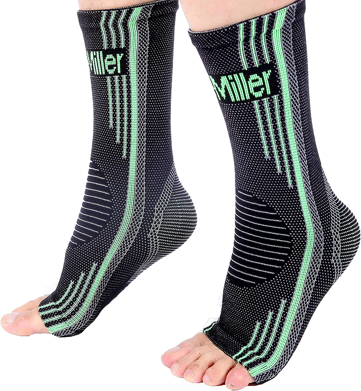 Doc Miller Aparatos ortopédicos de soporte para el tobillo. Calcetines para pie plantar hinchado fascitis tendinitis de Aquiles