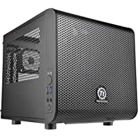 Thermaltake CA-1B8-00S1WN-00 Gaming Computer Case, Mini ITX Cube, Core V1