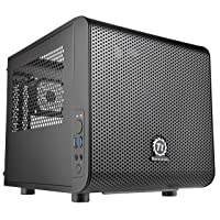 Thermaltake Core V1 SPCC Mini ITX Cube Gaming Computer Case Chassis, Interchangeable...