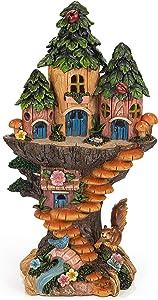 VP Home Mystic Gnome Treehouse Solar Powered LED Outdoor Decor Garden Light