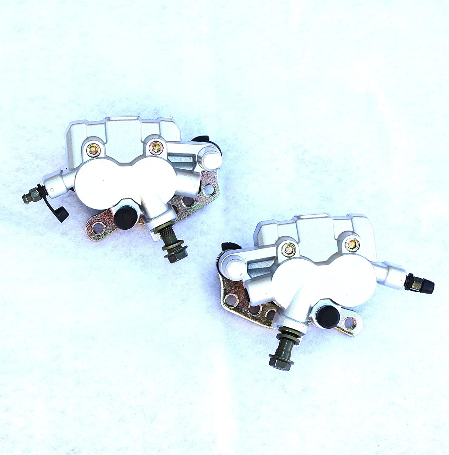 Kawasaki Front Brake Calipers with Pads for Brute Force Teryx Bayou 300 400 650 750 OE Replacement