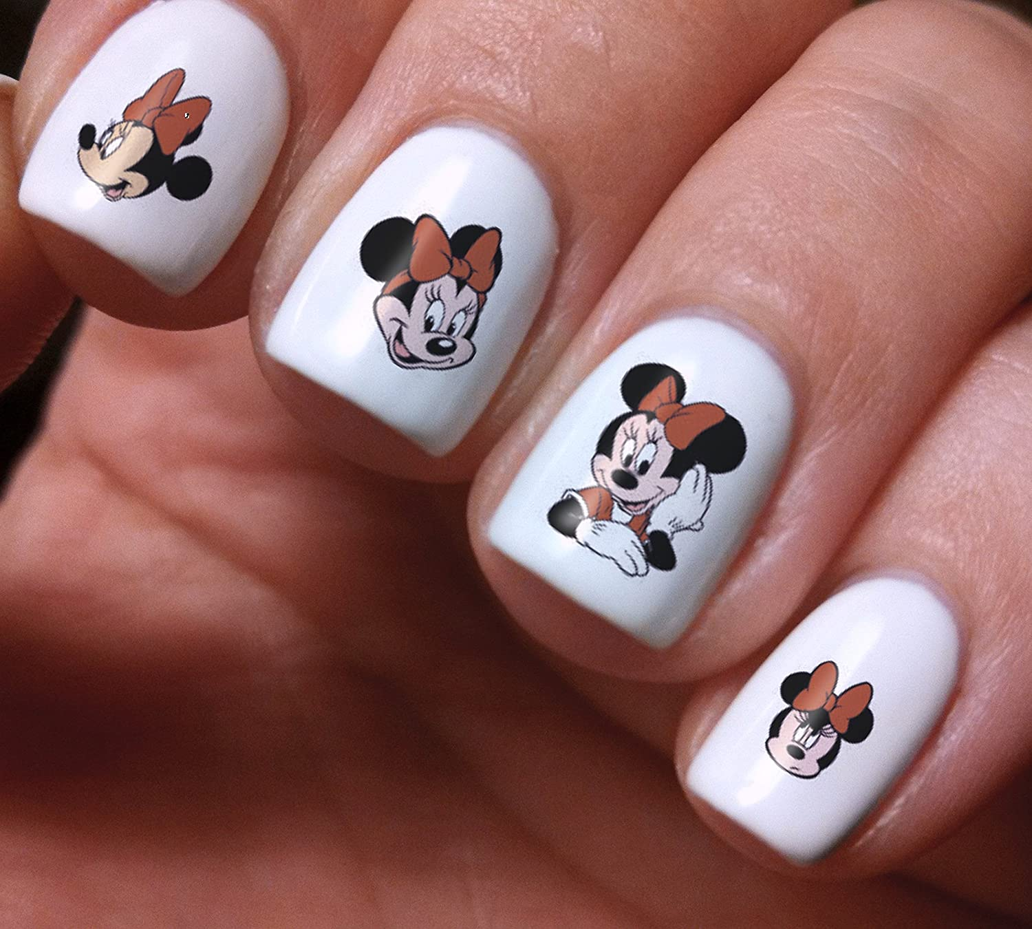 Nail Art Decals Set 3D DIY Mickey and Minnie Mouse Disney Cartoon -  Original Beauty Fashion Style High Quality Design Decoration Water  Transfer- The best ... - Amazon.com: Nail Art Decals Set 3D DIY Mickey And Minnie Mouse