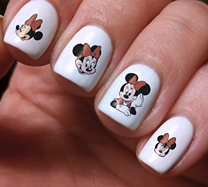 Nail Art Decals Set 3D DIY Mickey and Minnie Mouse Disney Cartoon -  Original Beauty Fashion - Amazon.com: Nail Art Decals Set 3D DIY Mickey And Minnie Mouse