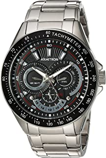 Armitron Mens 46mm Multifunction Silvertone Watch