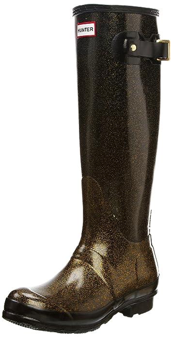 Hunter Original - Botas de agua de caña alta unisex, color negro, talla 43