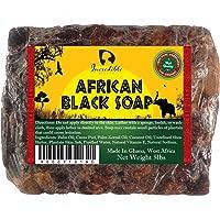 Jabón negro africano – 5 libras de jabón orgánico crudo para acné, piel seca, erupciones, eliminación de cicatrices…
