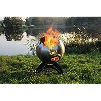 Feuerkorb XXL silber Fire Basket ✔ rund