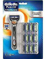 Gillette Fusion ProGlide - Maquinilla de afeitar con FlexBall + 10 recambios