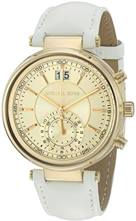4199a80fc Image Unavailable. Image not available for. Color: Michael Kors Women's  Sawyer White Watch MK2528
