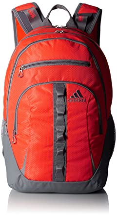 44c5cd2b64 adidas Unisex Prime II Backpack Solar Red Solar Orange Grey Backpack