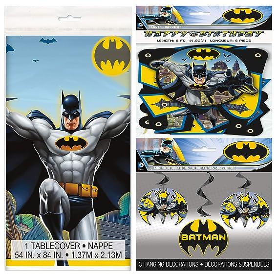 Amazon.com: Paquete de accesorios de fiesta de Batman que ...