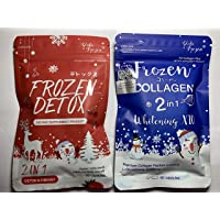 Double pack : Frozen Detox+Frozen Collagen Whitening x10 Glutathione 10000 mg Reduce acne Freckles Melasma Aura Whitening Lightening Skin anti-aging Lightenin Skin Reduce Acne Hair Nails