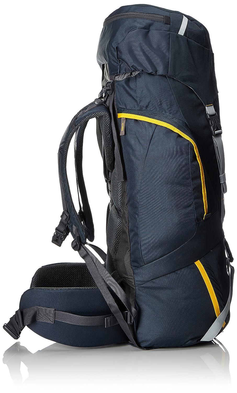 McKinley Uni Kenai 65 + 10 - Mochila de senderismo, color azul marino/amarillo, 77 x 28 x 22 cm: Amazon.es: Deportes y aire libre