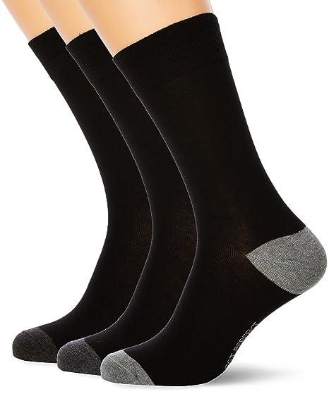 Nur Der Herren Passt Perfekt Socken 3er, Calcetines para Hombre, Mehrfarbig (Schwarz-