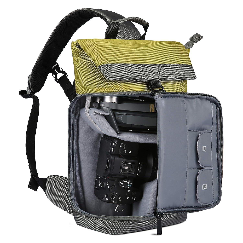 Rain Cover 1 Lens BAGSMART Camera Bag 1 DJI Mavic Pro for Canon Nikon Sony Sigma Pentax Olympus Panasonic Fujifilm DSLR Camera Bag Sling Bag for 1 Camera