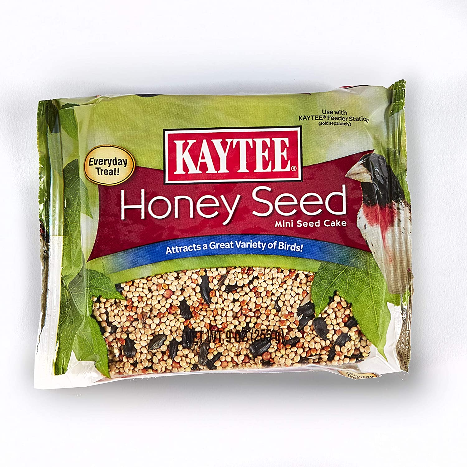 Kaytee Honey Mixed Seed Mini Cake, 9-Ounce