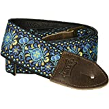 """Levy's Leathers Guitar Strap, M8HTV-04, 2"""" jacquard weave guitar strap with vintage Hootenanny design"""