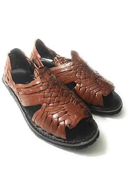MENS LEATHER SANDALS. MEXICAN HUARACHES. HUARACHE SALDALS. (US 7)