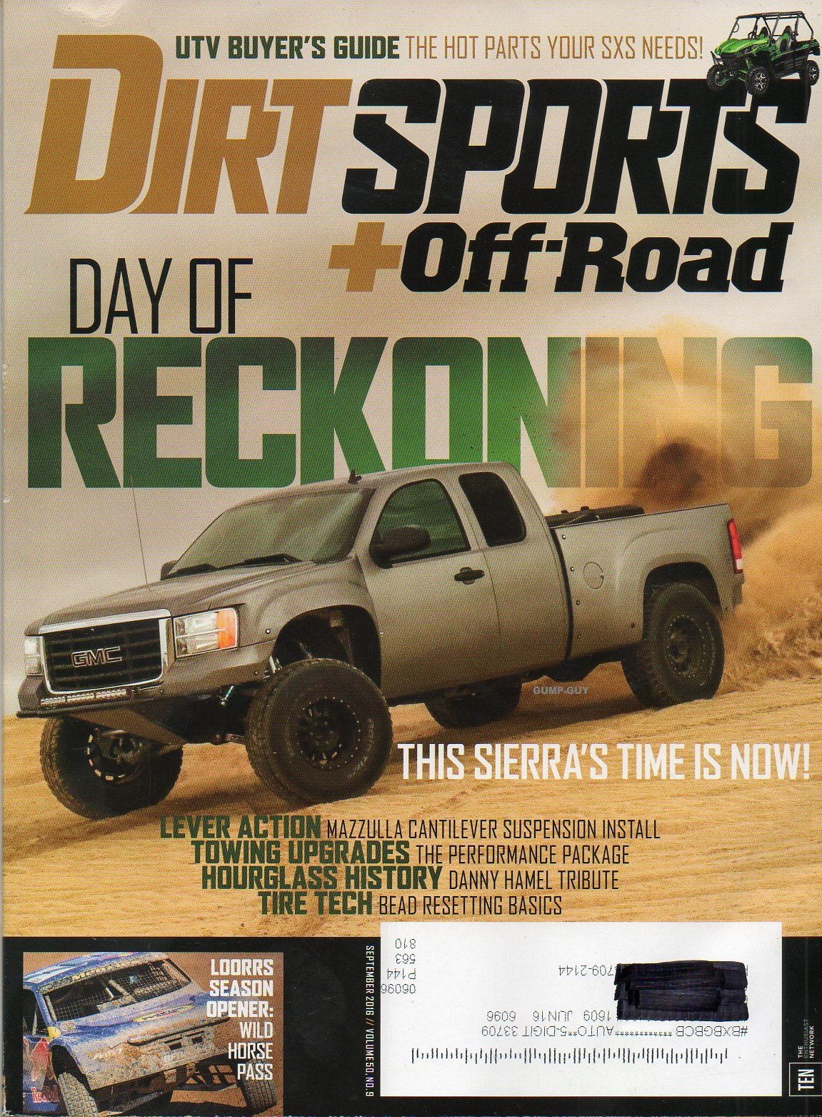Read Online Dirt Sports+Off-Road Magazine September 2016 UTV BUYER'S GUIDE: THE HOT PARTS YOUR SXS NEEDS! Day Of Reckoning: This Sierra's Time Is Now PDF