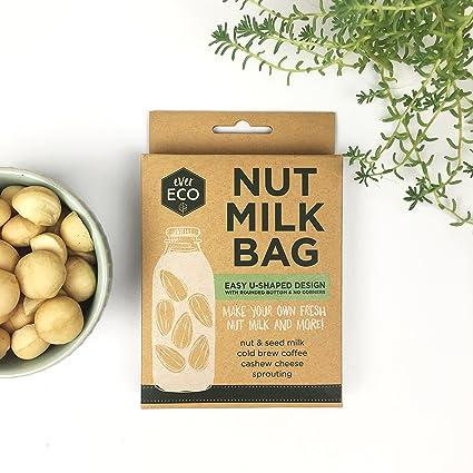 ... Nut Milk Bag - forma de U sin fisuras - Extra grande 12 X 12 - Ultra fina de la malla - reutilizable Colador para tuerca leche, leche de almendras, ...