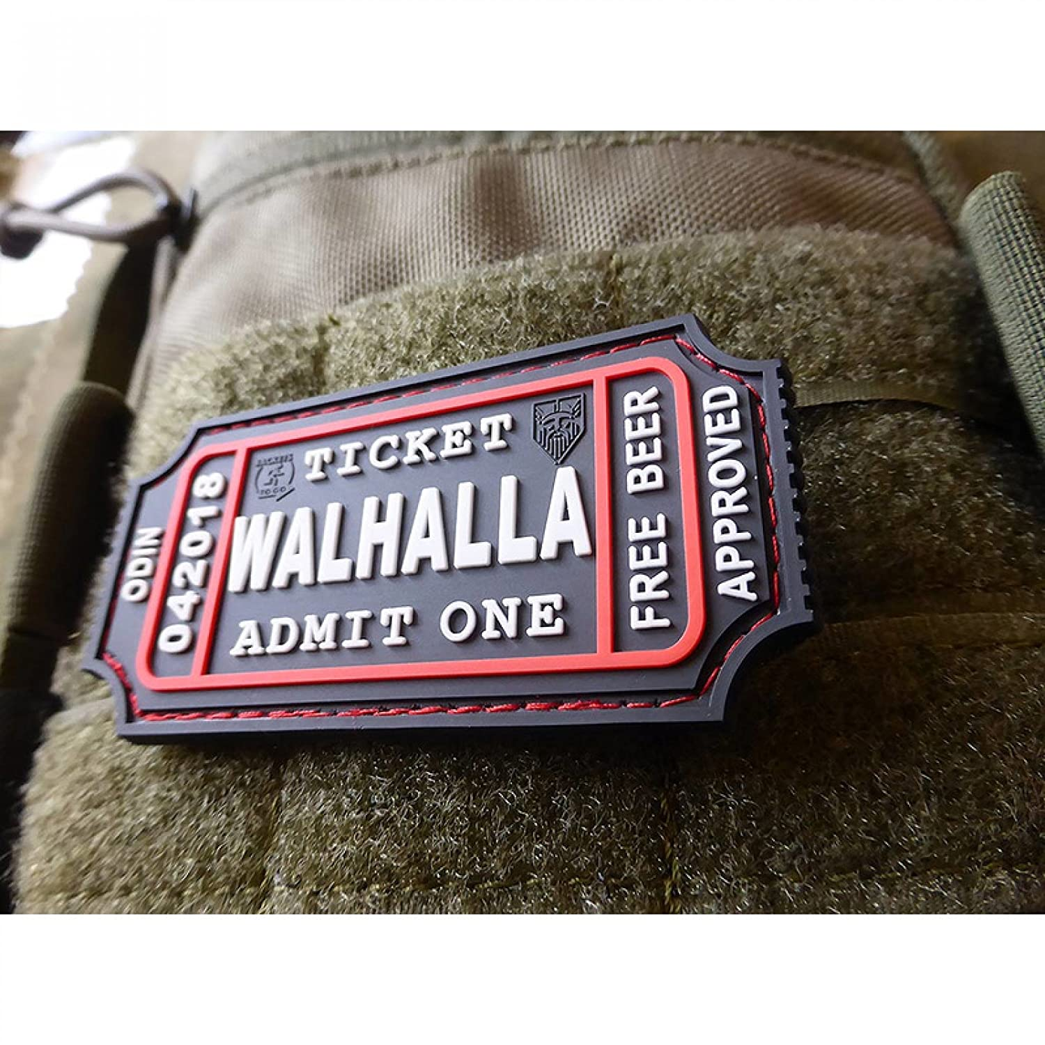 Jackets To Go JTG Walhalla Ticket SWAT 3D Rubber Patch Odin Approved