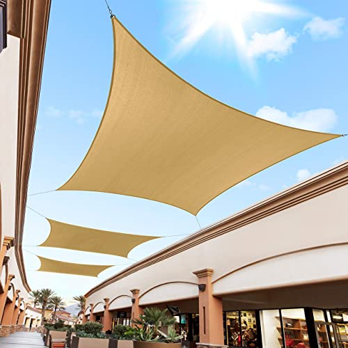 Royal Shade 18' x 18' Sand Beige Custom Size Order to Make Sun Shade Sail RTAPR0812 Canopy Mesh UV Block Square