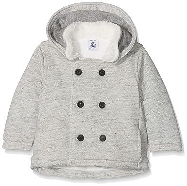 Petit Bateau Manteaux, Abrigo para Bebés, (Gris 01), Tallas De Fabricante
