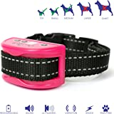 Superior Bark Collar for All XSmall - Medium Sized Dogs – Rechargeable No Pain Safe Anti Bark Collar - 10lb to 60lb - No More Expensive Batteries - Pink - Easy to Set Up & Use