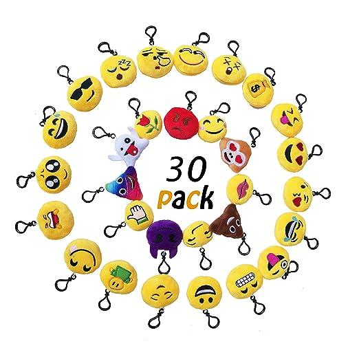 48 opinioni per Okaytec Set Ben 30 pezzi Portachiavi Emoji- Faccine Portachiavi Emoticon Più