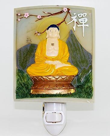 Amazon.Com: Zen Buddha Meditating Nightlight Lamp Candle Yoga