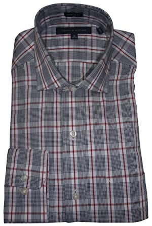 0e0b8aeac6 Tommy Hilfiger Men's Regular Fit Shirt, Size 15 1/2 32/33, Navy ...