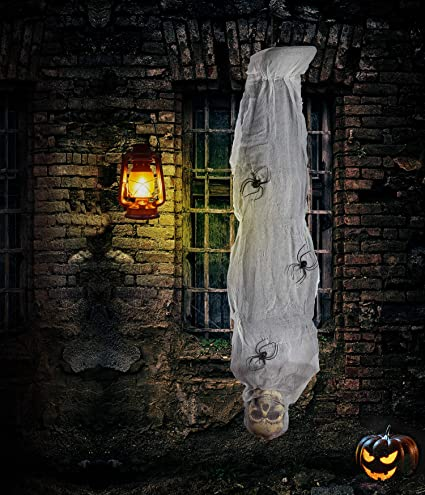 4Eu0027s Novelty Halloween Decorations Outdoor Props 60 Inch, Hanging Cocoon  Corpse, Spooky Scary Creepy Mummy Decorations, Horror Scene Decor With ...