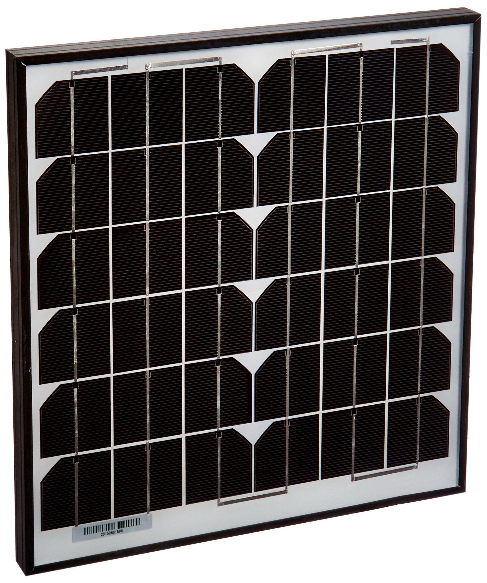 ALEKO Solar Panel Monocrystalline 15W for Any DC 12V Application (Gate Opener, Portable Charging System, Etc.)