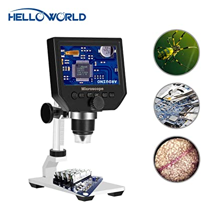 600X Digital Microscope with 4.3 Inch LCD Screen, 1080P Video Recorder Microscope Camera with 8