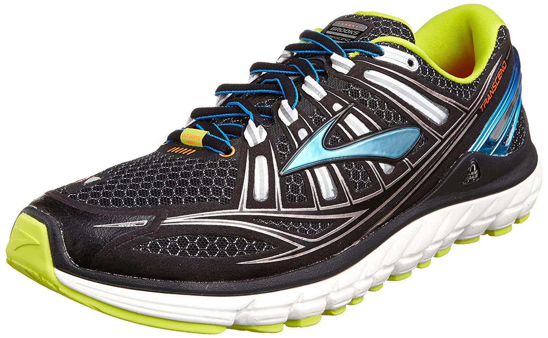 Brooks Trascendent - Zapatillas de running para hombre, color black/bachelorbutton/lime, talla 42: Amazon.es: Zapatos y complementos