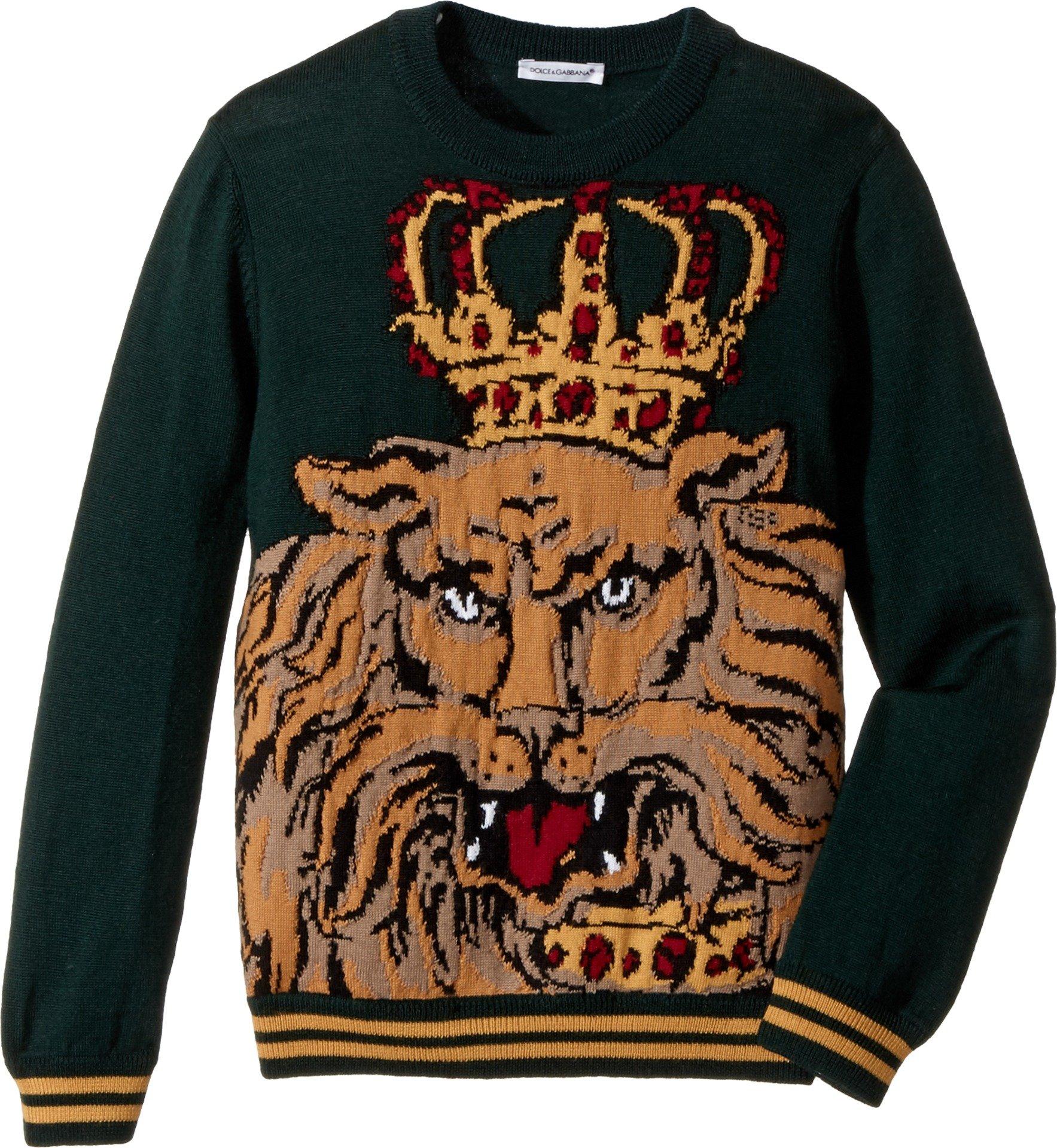 Dolce & Gabbana Kids Baby Boy's Lion King Sweater (Toddler/Little Kids) Green Print 6