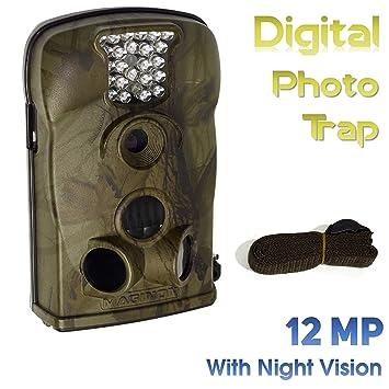 Maginon WK2 HD - Cámara de Vida Silvestre y Foto-Trampa con Visión Nocturna Digital