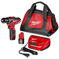 Deals on Milwaukee 2407-22 M12 3/8 in. Drill/Driver Kit