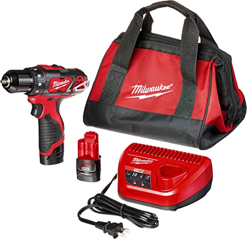 Milwaukee 2407-22 M12 3 8 Drill Driver Kit