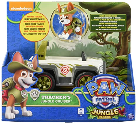 Amazon Com Paw Patrol Jungle Rescue Tracker S Jungle Cruiser