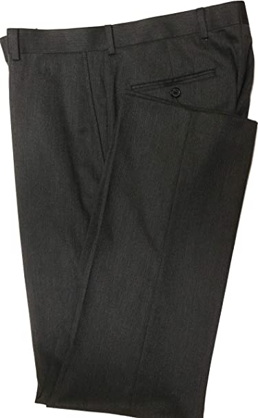 Cremieux Chambers Classic Fit Flat Front Solid Dress Pants Y75PX002 Dark Charcoal