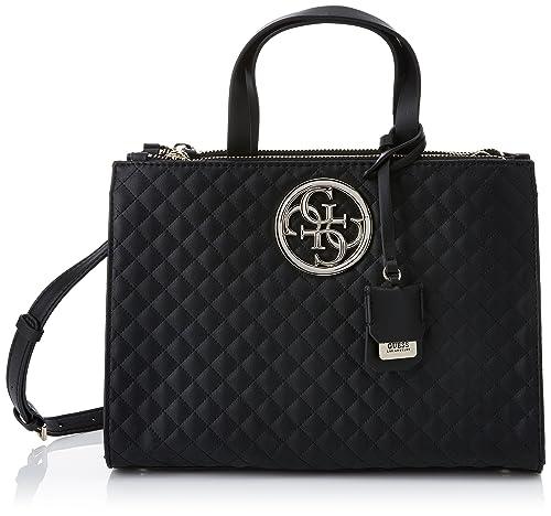 Guess - G Lux, Shoppers y bolsos de hombro Mujer, Nero, 13x23x32.