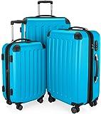 HAUPTSTADTKOFFER - Spree - Valise plus Grande, Bagages Rigide, Trolley, ABS, TSA, extensible, extra léger, 4 roues, 75 cm, 125 L, Cyan