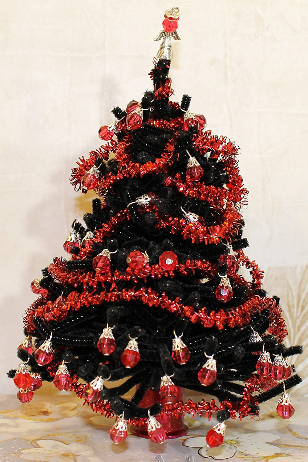 Amazon.com Gothic Red and Black Christmas Tree for Diorama