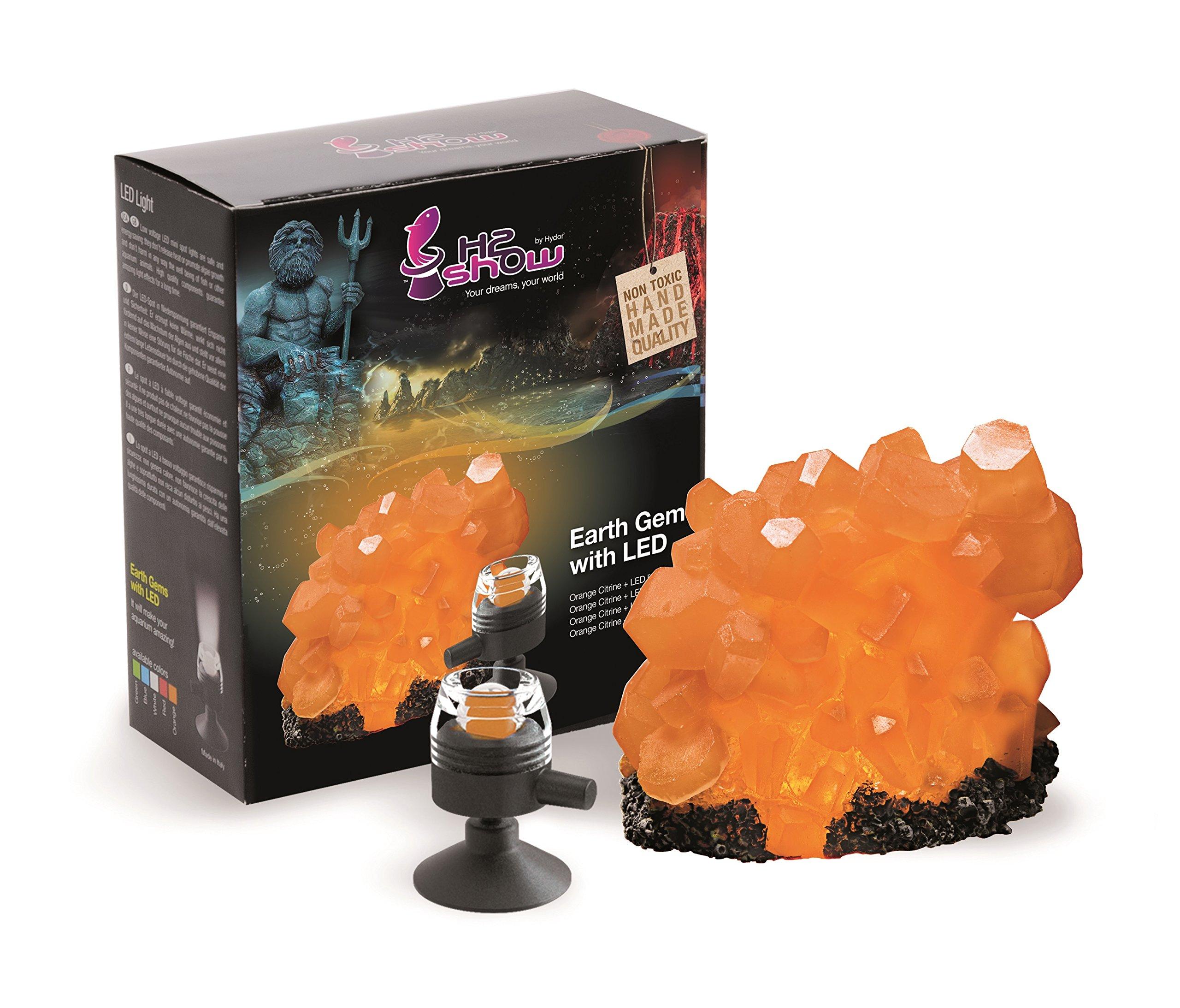 Hydor H2Show Earth Gem, Orange Citrine, Orange LED